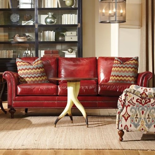 Huntington House 7162 Traditional Sofa w/ Turned Legs