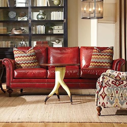Geoffrey Alexander 7162 Traditional Sofa w/ Turned Legs