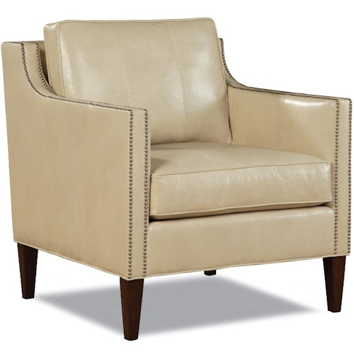 Huntington House Baxter Transitional Upholstered Chair with Nailheads