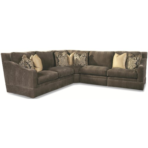 Geoffrey Alexander 7204 4 Seater Sectional with Sloping Track Arms