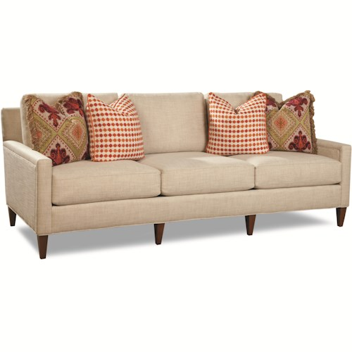 Huntington House 7209 Contemporary Sofa with Tapered Feet