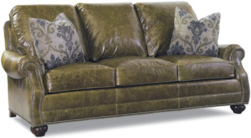 Huntington House 7214 Traditional Sofa with Rolled Arms and Nailhead Trim