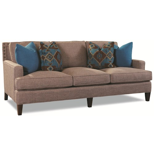Huntington House 7219 Contemporary Sofa with Nailhead Trim