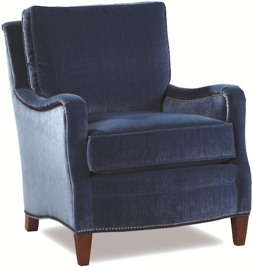 Huntington House 7222 Traditional Chair with Scooped Track Arms