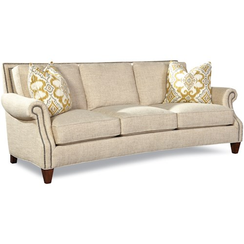Geoffrey Alexander 7249 Transitional Sofa with Rolled Arms and Nailhead Trim