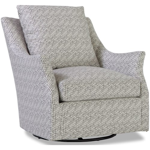 Geoffrey Alexander 7270 Contemporary Swivel Glider Chair with Flare Tapered Arms