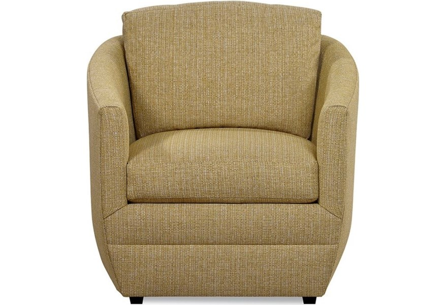 Huntington House 7279 Contemporary Upholstered Accent Barrel Chair Belfort Furniture Upholstered Chairs
