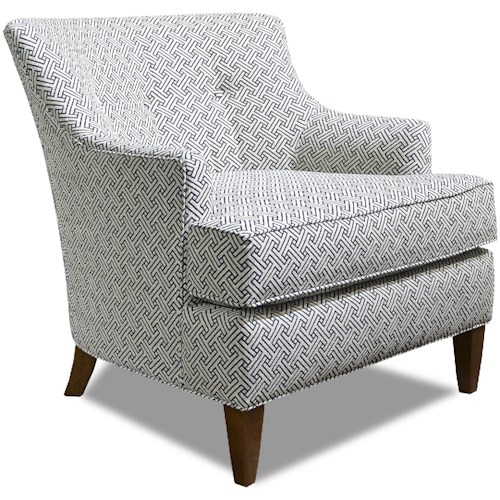 Huntington House 7412 Traditional Chair with Tapered Feet