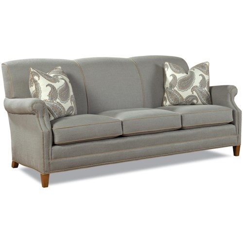 Geoffrey Alexander 7436 Casual Elegant Stationary Sofa with Nailhead Trim