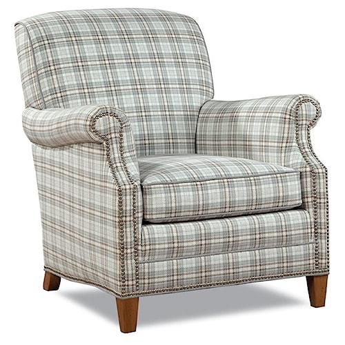 Huntington House 7436 Casual Elegant Chair with Nailhead Trim