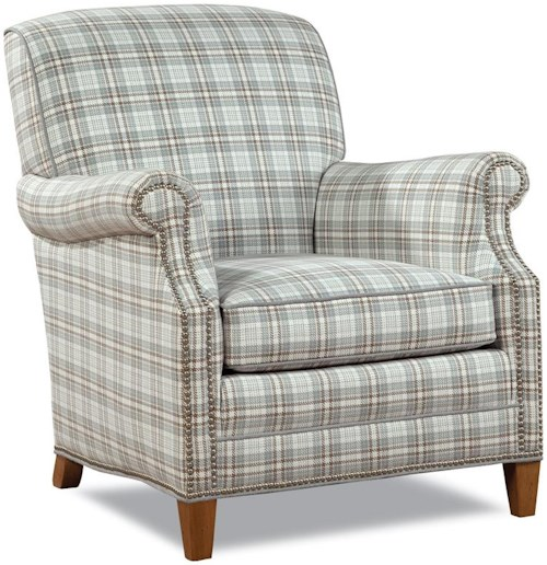 Huntington House 7436 Casual Elegant Chair with Nailhead Trim
