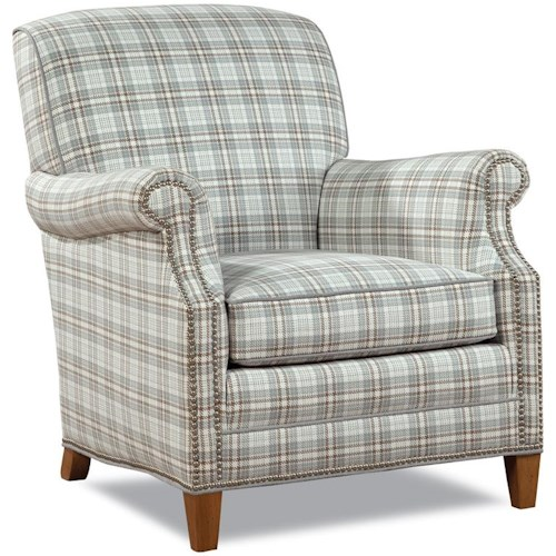 Geoffrey Alexander 7436 Casual Elegant Chair with Nailhead Trim