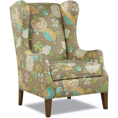 Geoffrey Alexander 7444 Traditional Wing Chair with Tapered Legs