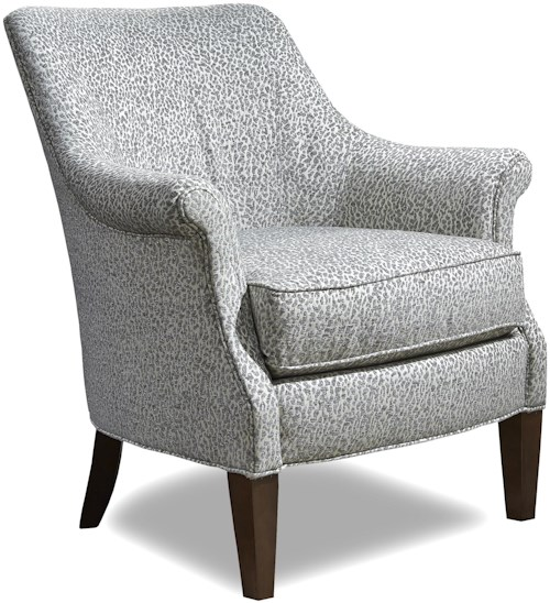 Huntington House 7449 Traditional Chair with Rolled Arms