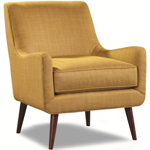 Geoffrey Alexander 7470 Upholstered Chair with Mid-Century Modern Legs