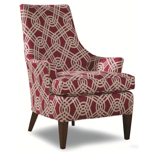 Huntington House 7471 Contemporary Accent Chair with Curved Back
