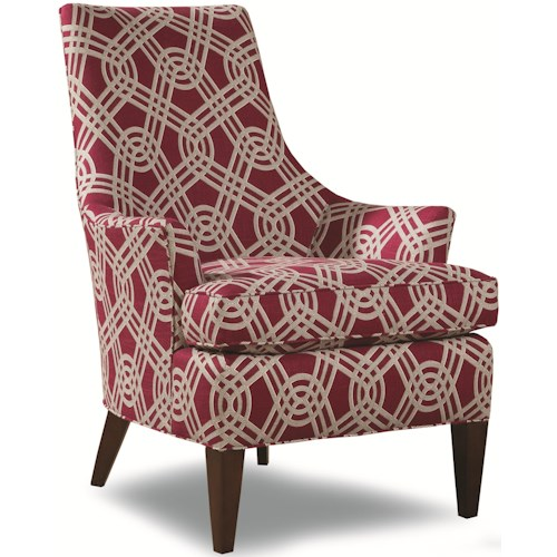 Geoffrey Alexander 7471 Contemporary Accent Chair with Curved Back