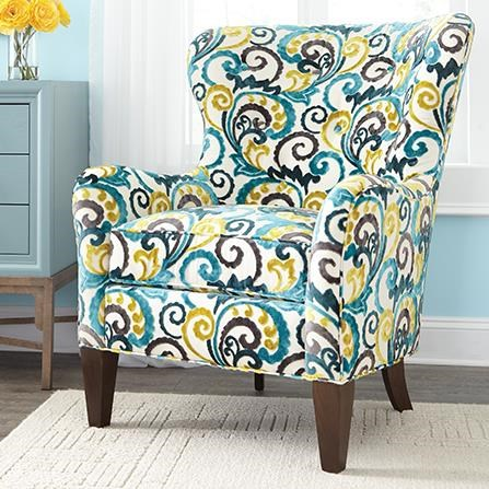 Charming Huntington House 7475 Traditional Wing Back Accent Chair With Tapered Legs