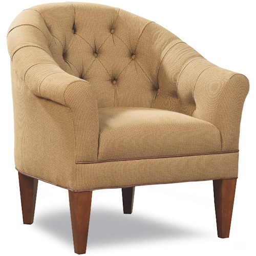 Huntington House 7478 Upholstered Chair with Rounded, Tufted Back and Rolled Arms