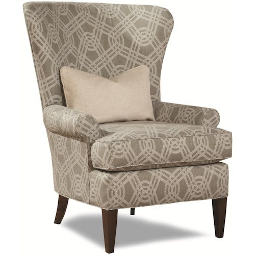 Geoffrey Alexander 7491 Traditional Accent Chair with Curved Wing Back
