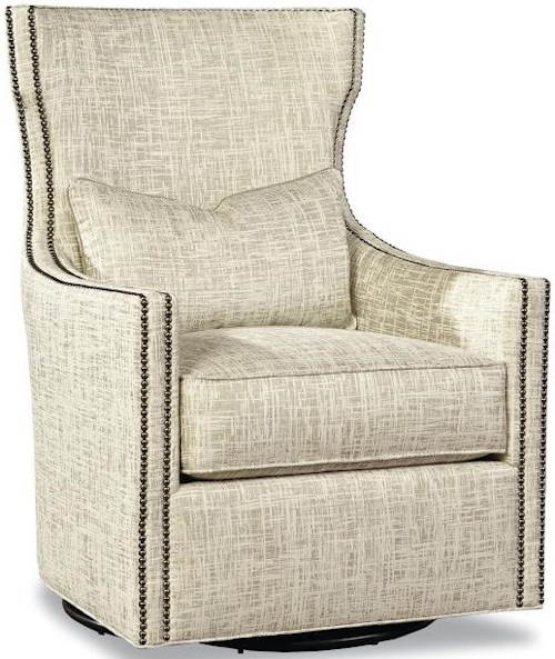 Huntington House 7720 Collection Swivel Chair with Nail Head Trim