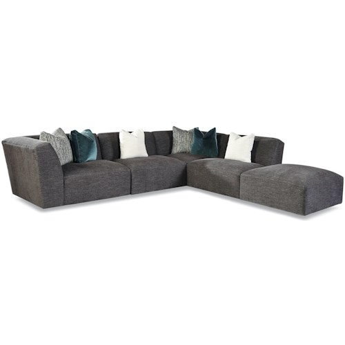 Geoffrey Alexander 7722 Customizable Left Arm Facing Tight Back Sectional