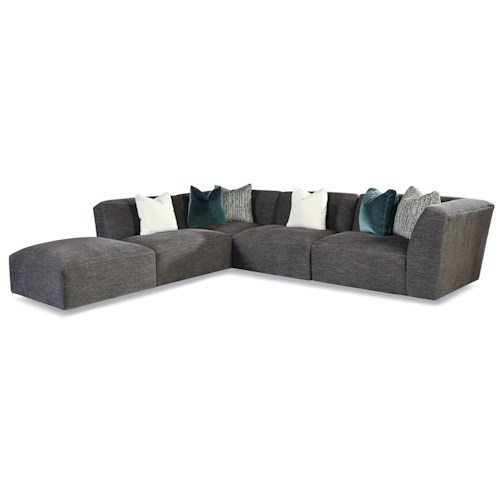 Huntington House 7722 Customizable Right Arm Facing Tight Back Sectional
