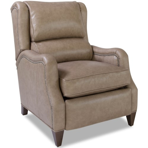 Huntington House 8117 Transitional Power Recliner with Nailhead Trim