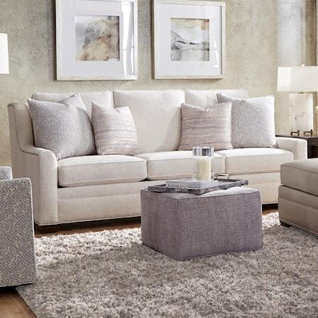 "Customizable 97"" Tux Arm Sofa"