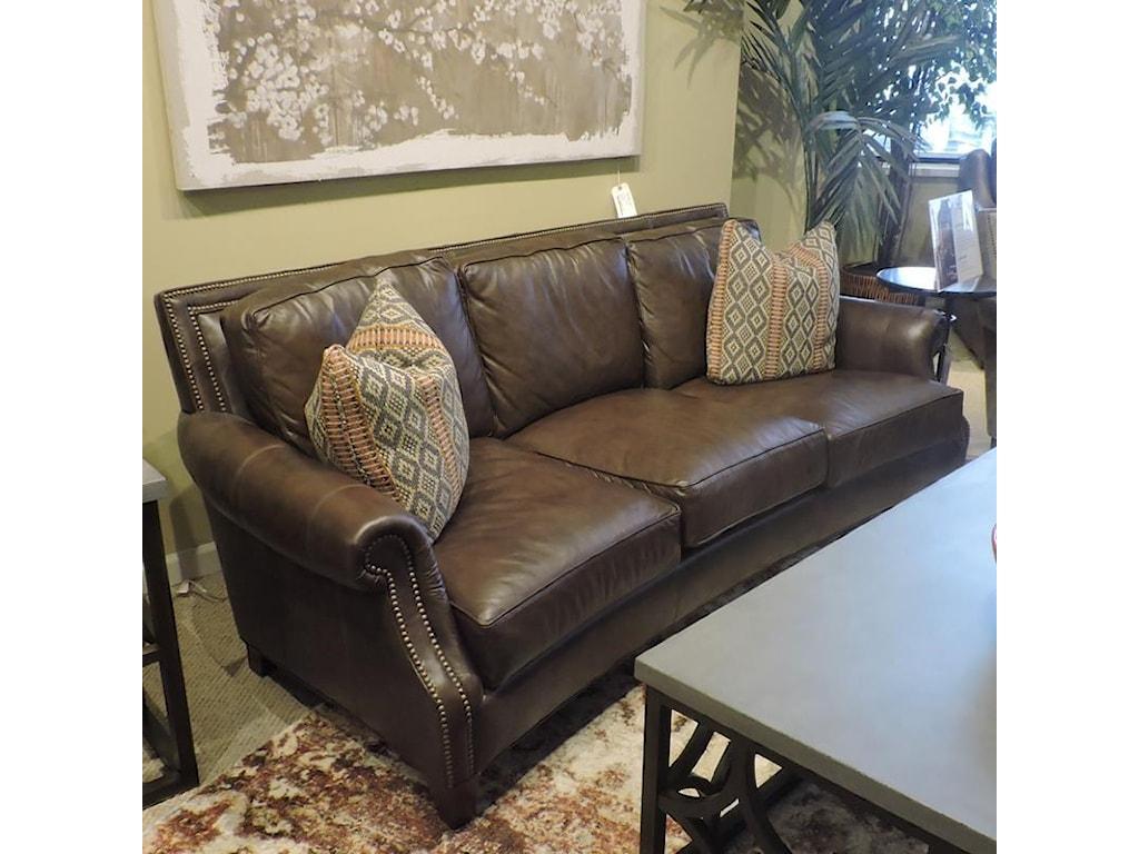 Huntington House clearanceJohnson Leather Sofa