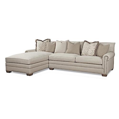 Huntington House 7107 Ryan Traditional Sectional Sofa with Nailhead Trim