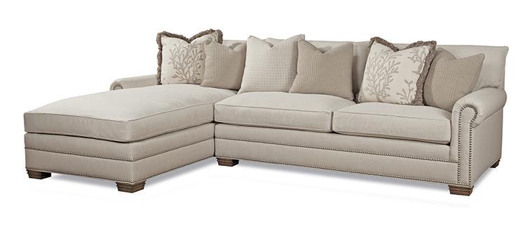 High Quality Huntington House 7107 Traditional Sectional Sofa With Nailhead Trim