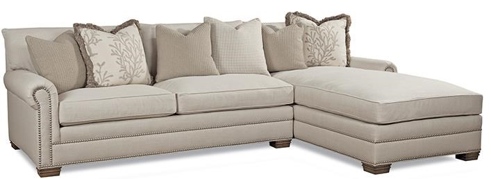 Good Huntington House 7107 Traditional Sectional Sofa With Nailhead Trim