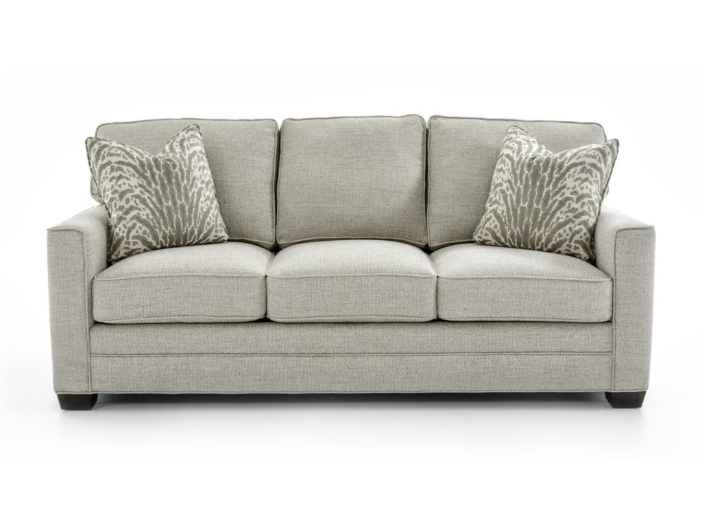 Solutions 2053 Customizable 3 Cushion Stationary Sofa by Huntington House  at Baer\'s Furniture