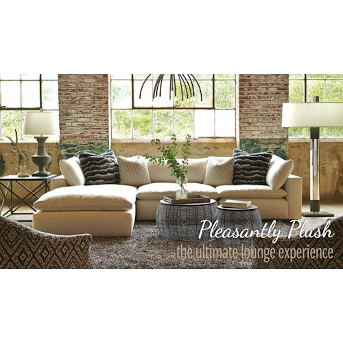 Geoffrey Alexander Xavier Sectional Sofa Group With Track Arms And Seat Cushion