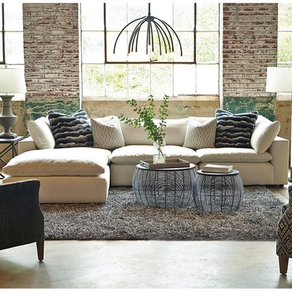 Huntington House Xavier Sectional Sofa Group with Track Arms and Tight Seat Cushion - Belfort Furniture - Sofa Sectional : huntington house sectional - Sectionals, Sofas & Couches