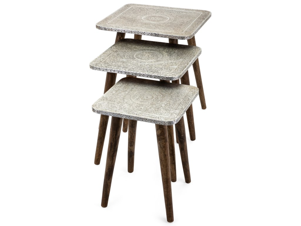 IMAX Worldwide Home Accent Tables and CabinetsPiers Metal Clad Tables - Set of 3