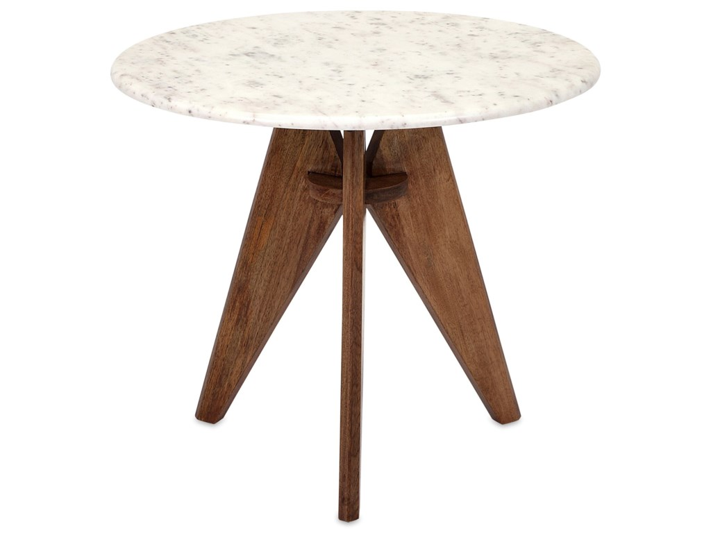 IMAX Worldwide Home Accent Tables and CabinetsFebe Tall Marble and Wood Table