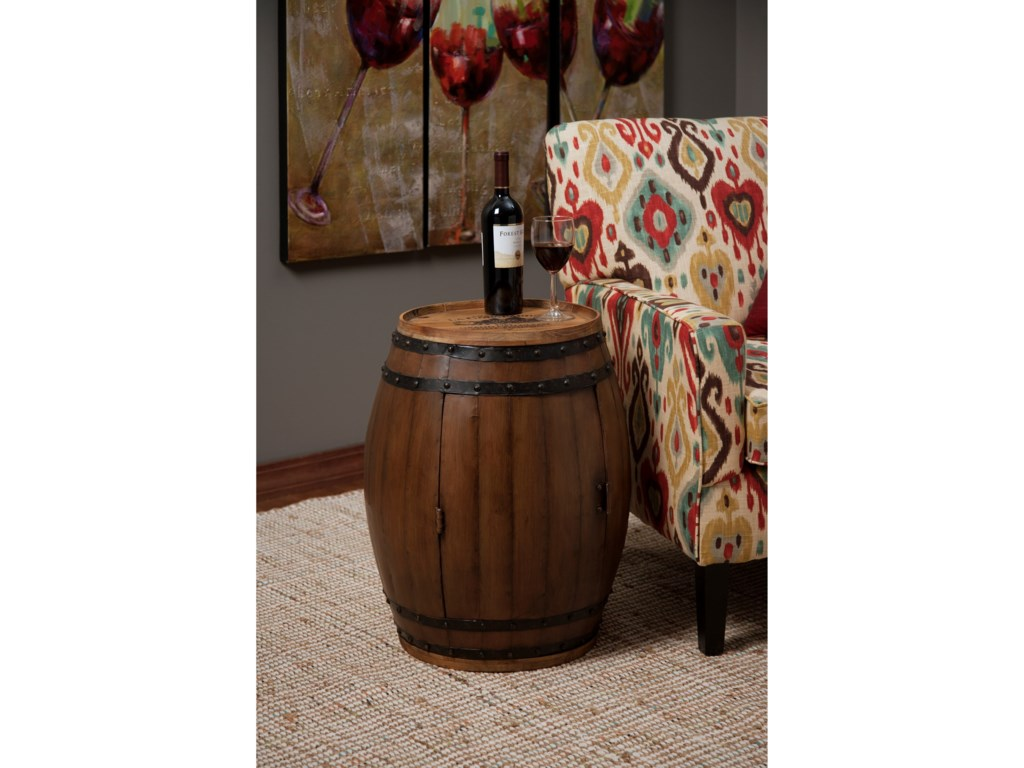 IMAX Worldwide Home Accent Tables and CabinetsNapa Barrel Table