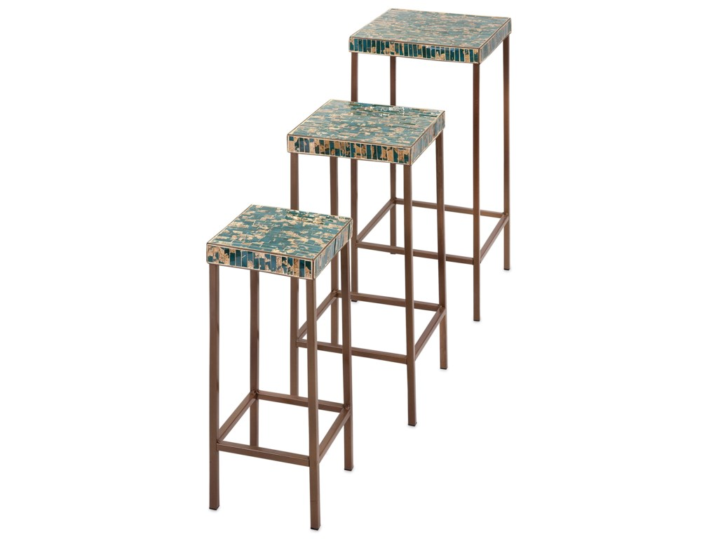 IMAX Worldwide Home Accent Tables and CabinetsGlacier Mosaic Tables - Set of 3