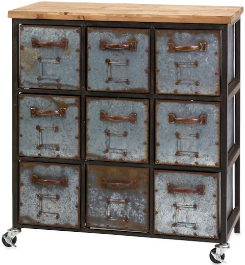 IMAX Worldwide Home Accent Tables and Cabinets Holloway 9-Drawer Cabinet