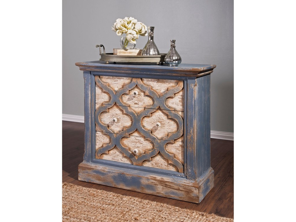 IMAX Worldwide Home Accent Tables and CabinetsLyndsey Blue Wood Chest of Drawers