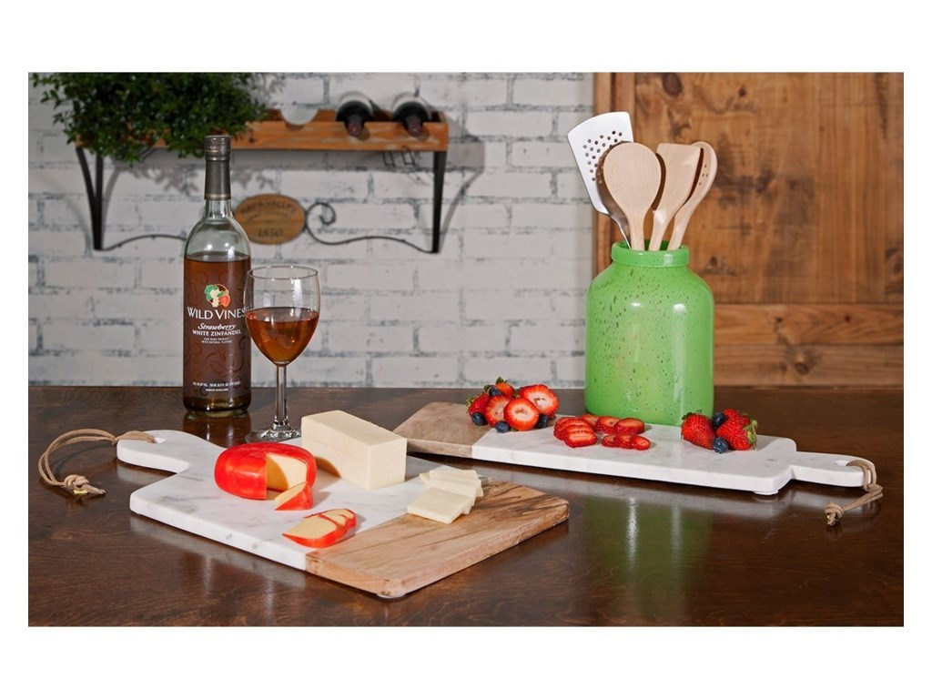 IMAX Worldwide Home AccessoriesAddy Marble and Wood Cheese Board