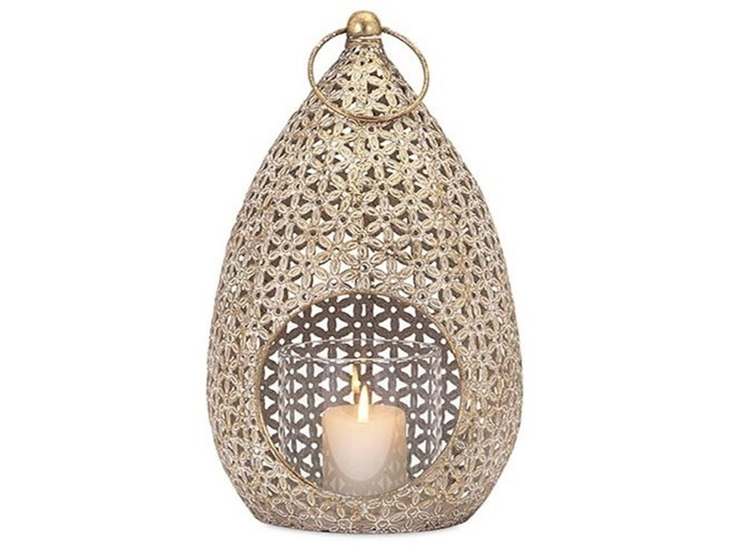 IMAX Worldwide Home Candle Holders and LanternsTeardrop Large Lantern