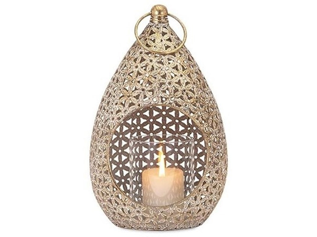 IMAX Worldwide Home Candle Holders and LanternsTeardrop Small Lantern