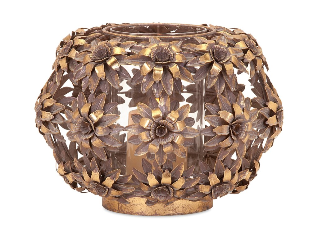 IMAX Worldwide Home Candle Holders and LanternsCharay Large Flower Lantern