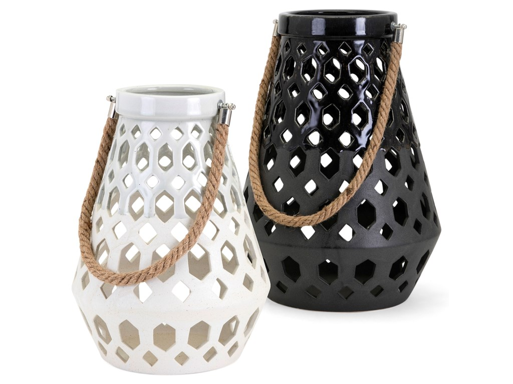 IMAX Worldwide Home Candle Holders and LanternsCora Ceramic Lantern