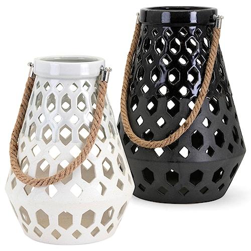IMAX Worldwide Home Candle Holders and Lanterns Cora Ceramic Lantern