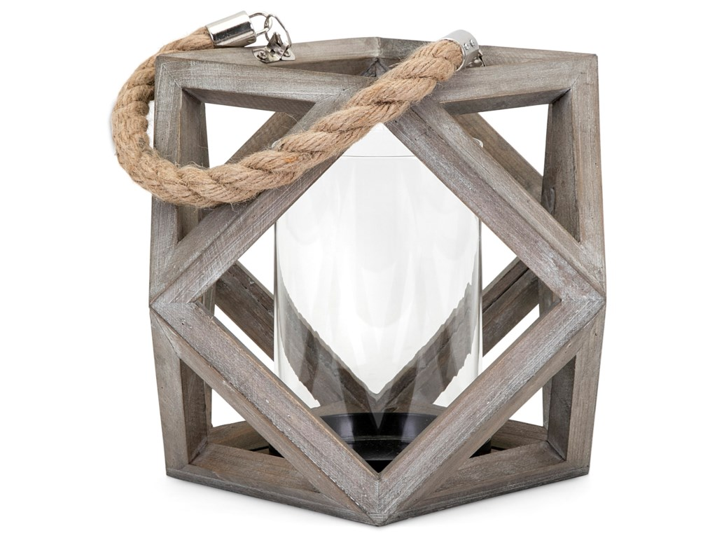 IMAX Worldwide Home Candle Holders and LanternsAres Small Wood Lantern