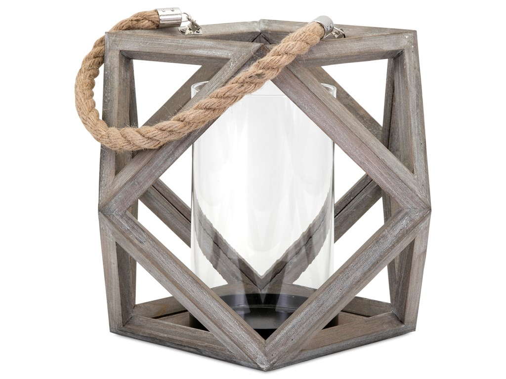 IMAX Worldwide Home Candle Holders and LanternsAres Large Wood Lantern